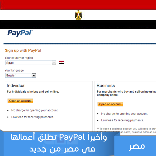 Paypal Now in Egypt